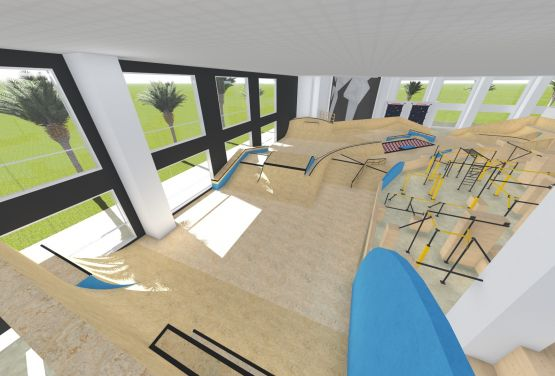 Project of skatepark and flowpark in Dubai