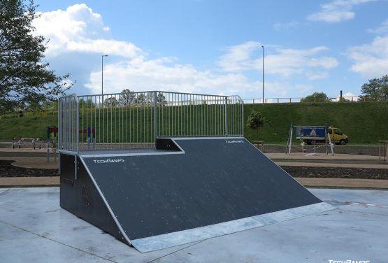 Ramp in skatepark in Pisz