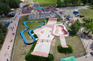 Pumptrack, skatepark - gmina Sławno