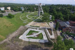 Top view of skatepark in Chorzów