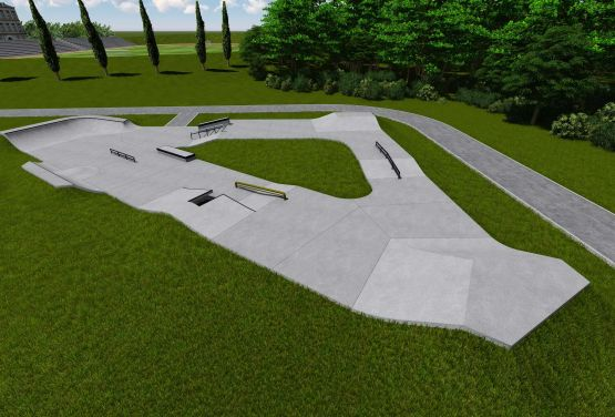 Konkreter Skatepark - Kalwaria - Projekt