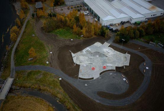 Drone - Skatepark in Lillehammer