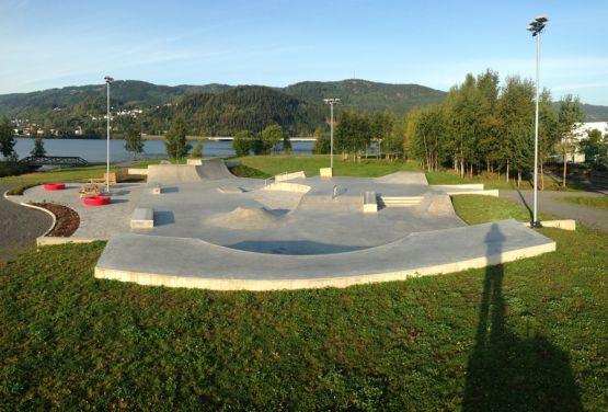Concrete skatepark in Lillehammer