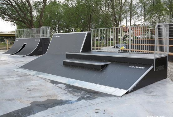 Ramp with stairs in Pisz