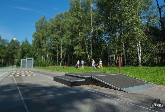 Kicker with box skatepark in Rabka-Zdrój