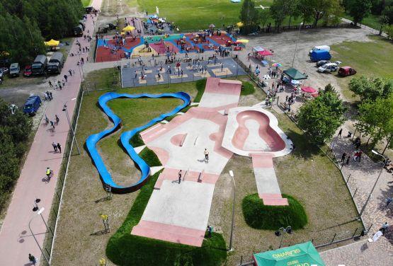 Skatepark and pumptrack - sport facilities