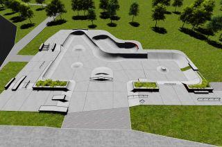 Konkreter Skatepark in Swarzęd - Visualisierung des Projekt