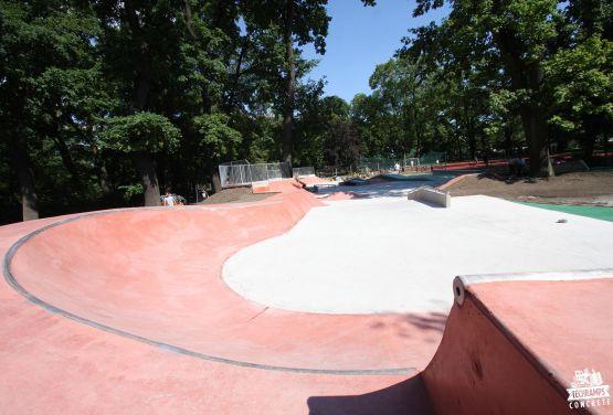 Skatepark dans le Jordan Parc
