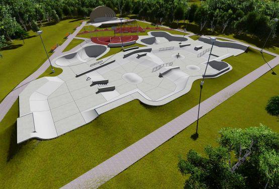 Konzeption des Skateparksin Norwegen in Brumunddal