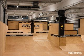 Skatepark intérieur par Techramps