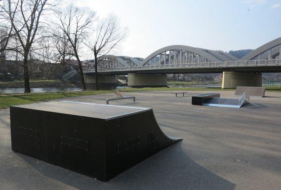 Skatepark nad Dunajcem w Pieninach