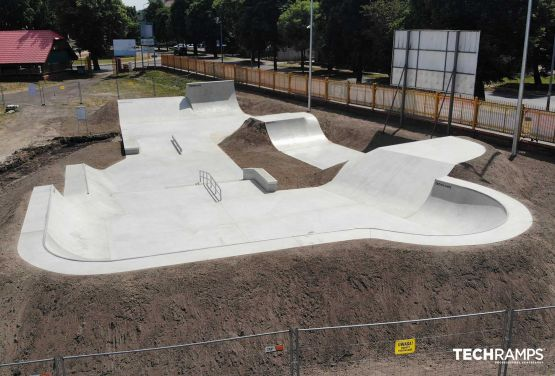 Skatepark betonowy Techramps