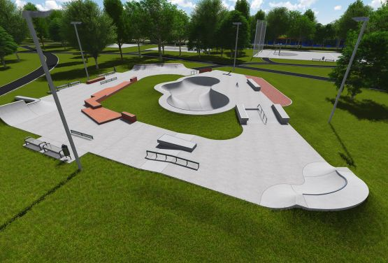Project of skatepark in Warsaw
