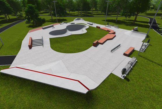 Skatepark project - Warsaw Ochota