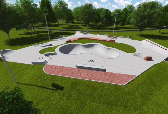 Projekt der Bowl in skatepark in Warschau