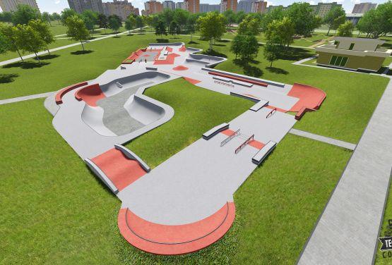 Projektvisualisierung - Moskau - Russland skateparks