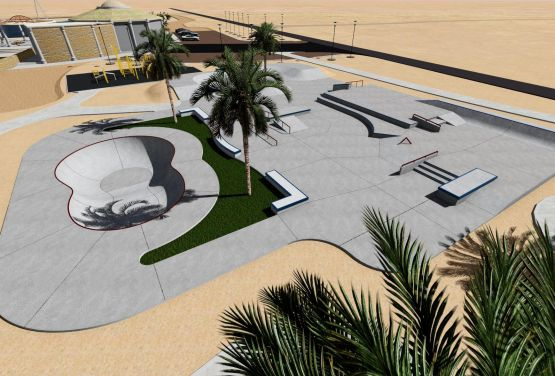Skatepark à El Gouna