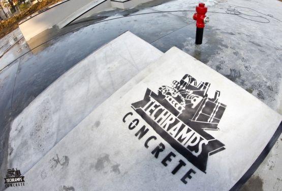 Concrete skatepark in Tarnów