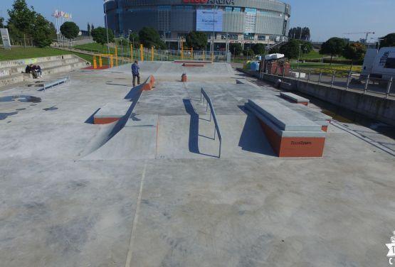 Betonowy skatepark w Gdańsku - Ergo Arena