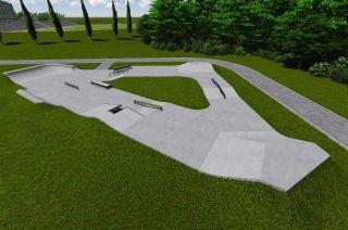 Betonowy skatepark - Kalwaria - projekt