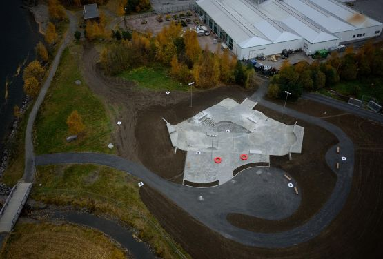 Skatepark w Lillehammer (Norwegia)