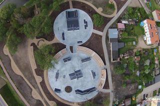 Widok z drona na skatepark