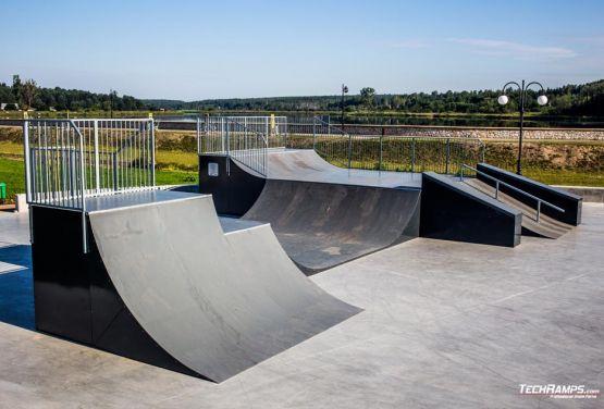 Skatepark in Wąchock in Poland