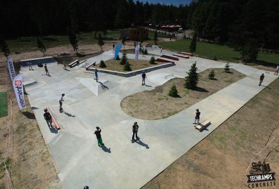 dron - przysucha Woodcamp skateplaza