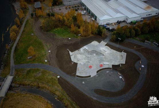 Foto von der Drohne - Skatepark Lillehammer