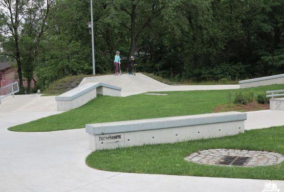 Concrete obstacles in Chorzów