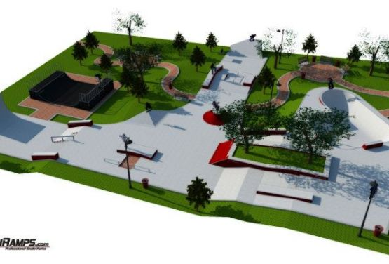 Construction of skateplaza in Cracow
