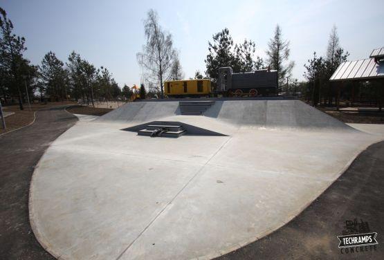 Silver skatepark in Olkusz