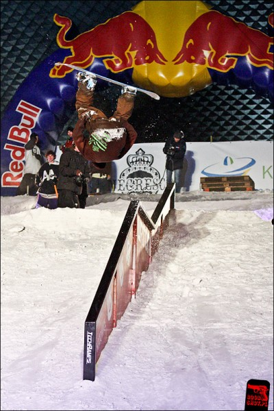 Snowpark Rider at handrail  - Katowice