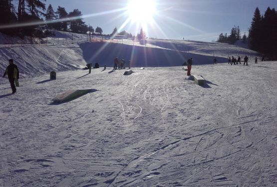 Snowpark in Polish city Słotwiny