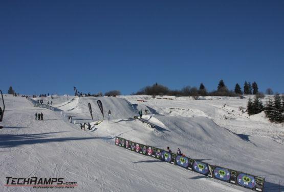 Snowpark in Witów (drone photo)