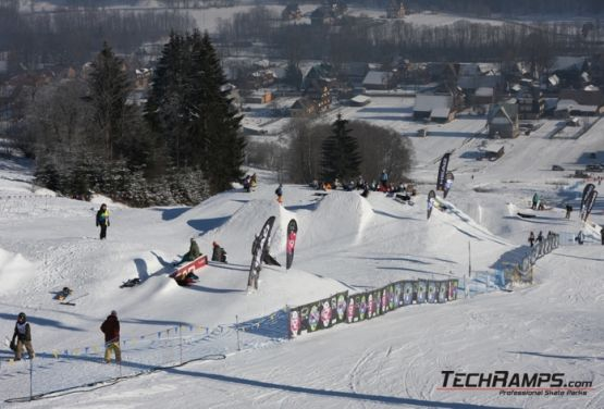 Snowpark in Polen - Hindernisse