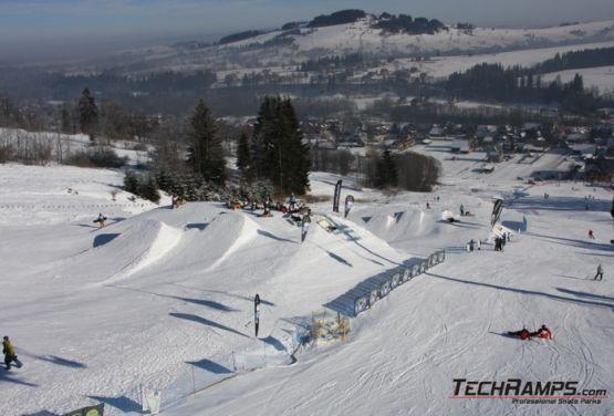 Snowpark z lotu ptaka