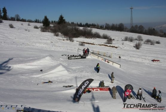 Snowpark in Witów- obstacles