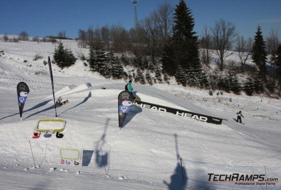 Hindernisse in snowpark in Witów
