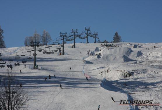 Snowpark à Witów - remontée mécanique