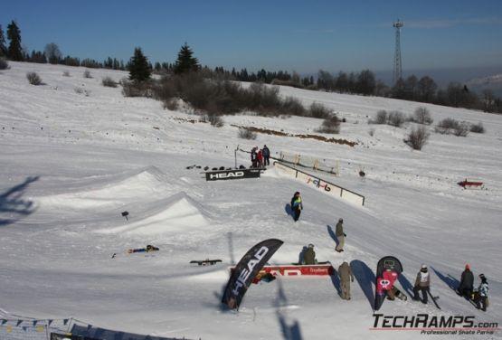Snowpark en Witów- obstáculos