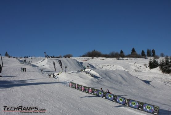 Snowpark en Witów (Polonia)