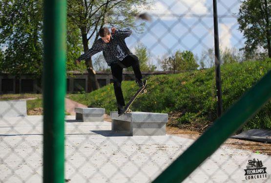 Techramps - Stopnica skatepark de hormigón