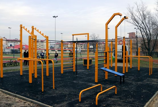 Area for street workout in Gliwice