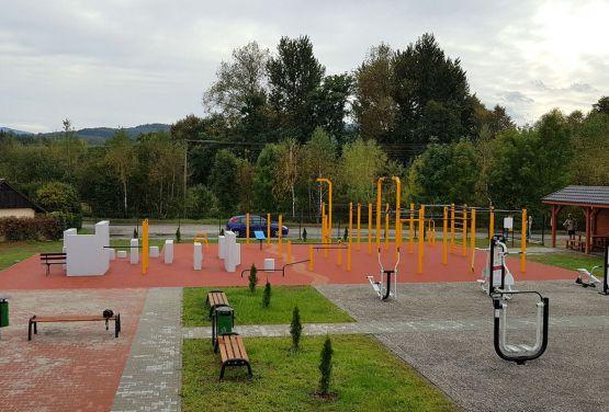 Street workout park in Maków Podhalański