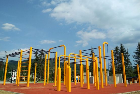 Parkour park and Street workout park in Maków Podhalański