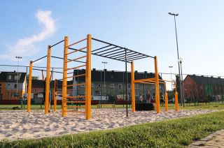 Street workout park in Ozimek