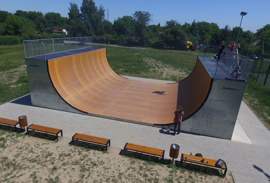 Vert Ramp - dron view- Cracow