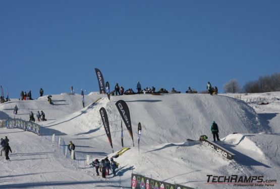 Snowpark in Witów (view at downhill ride)
