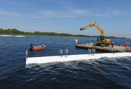 Obstacles for wakepark in Jeziorsko
